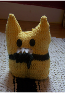 This is a monster doll I knitted. It is only tangentially related.